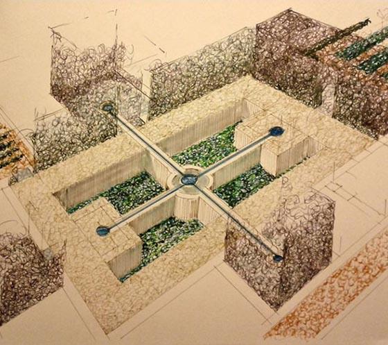 Jardines en los palacios de Pedro I / Una forma de viajar